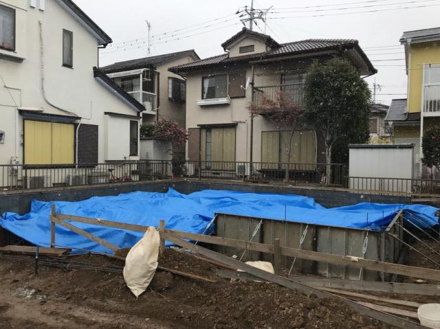富士見市H様邸 施工中の様子
