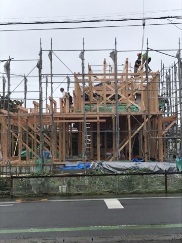 上尾市HRI様邸 施工中の様子